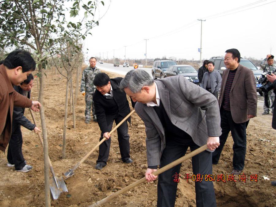 我县开展义务植树造林活动