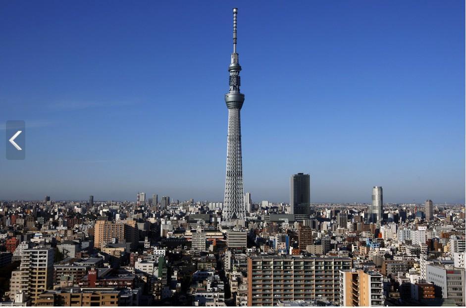 世界最高电视塔在东京完工