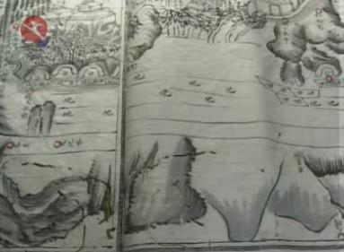 我县发现清代手绘岭根乡村貌图