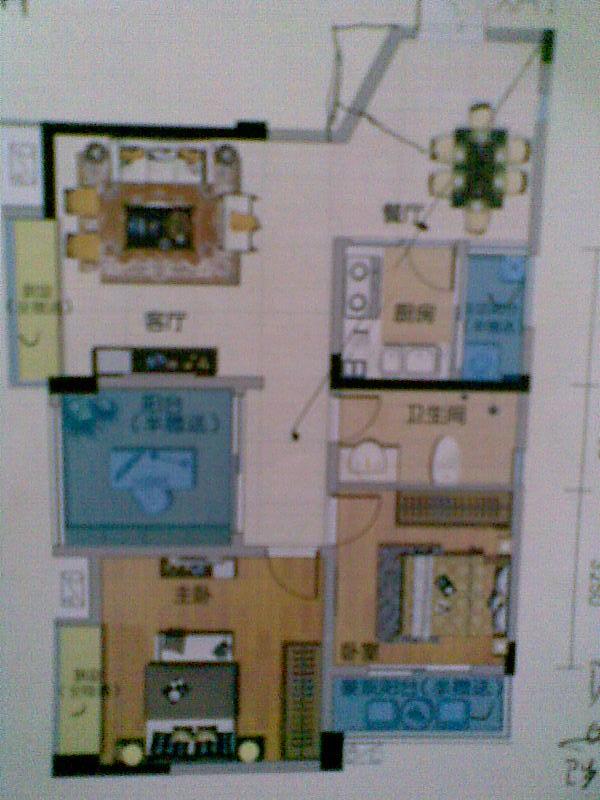一百平方三室一厅设计图片展示图片