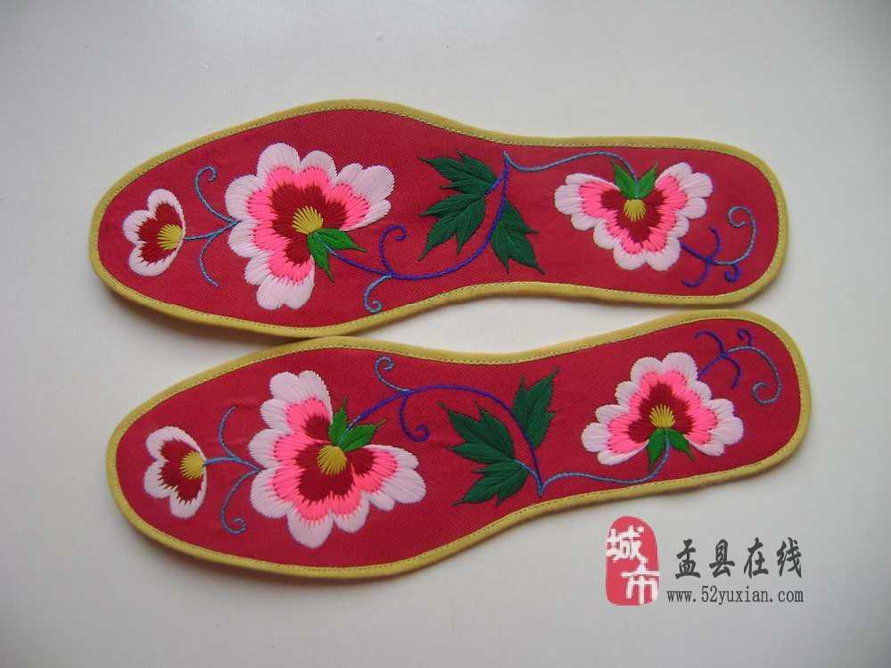 方格鞋垫动物图案