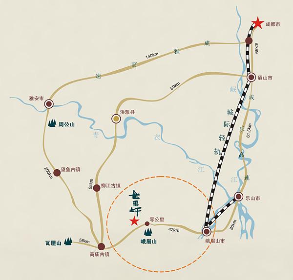 成都旅游景点地图分布
