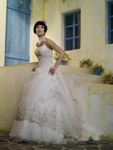 图片手绘婚纱大拖尾