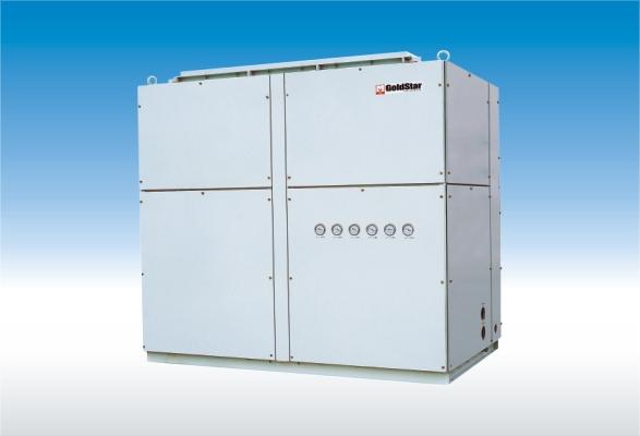 在需要大冷量,小热量的场合,单冷机型配以辅助电加热是很好的选择.