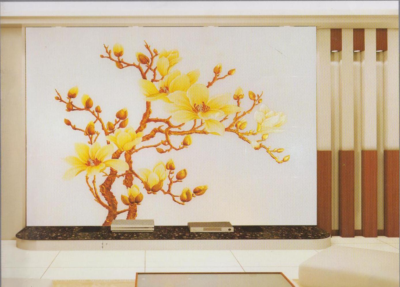 彩铅手绘风景玉兰