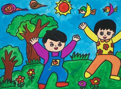 我的家乡小学生画,我的家乡手抄报,我的家乡日喀则简谱