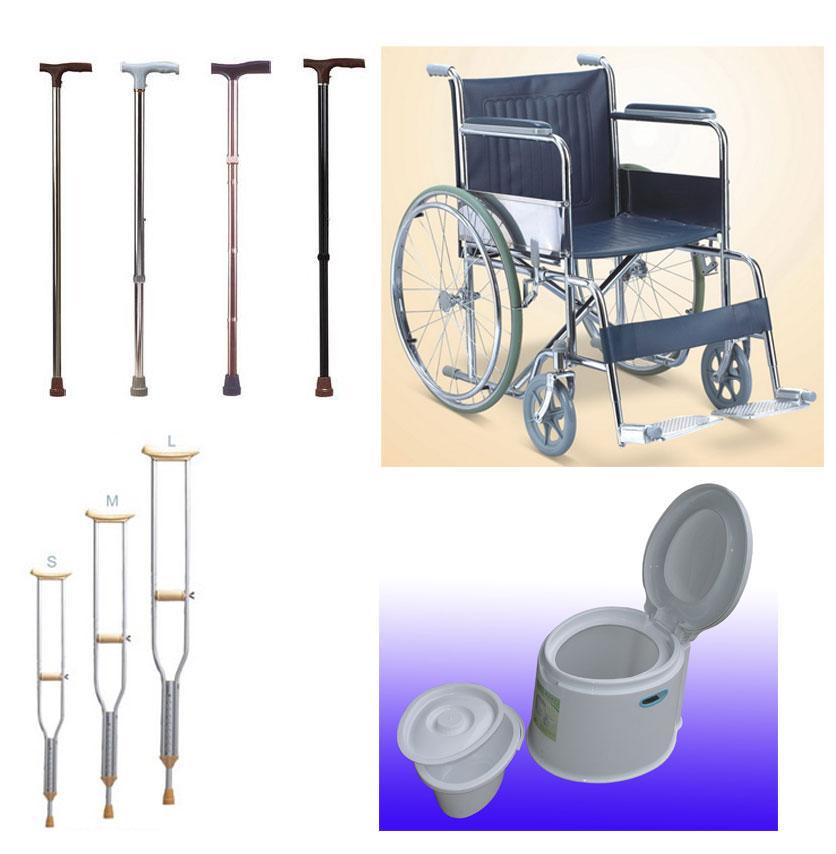 处理一批库存全新家庭老年人,残疾人生活用品:轮椅,拐杖,便携式马桶