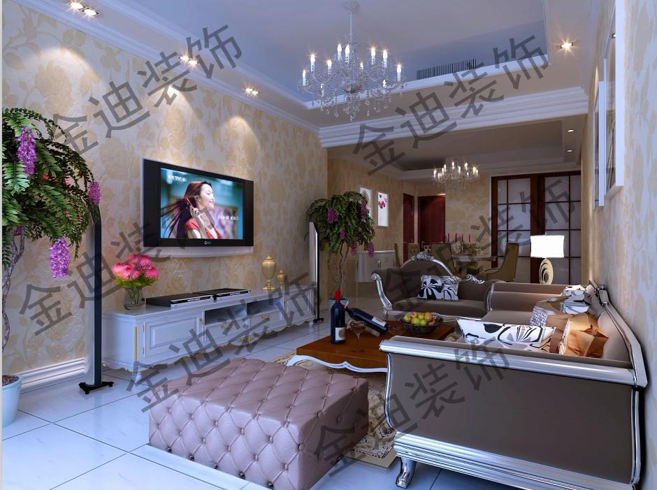 温泉小区三室两厅欧式风格图片