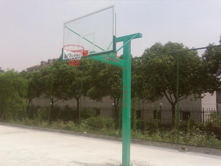 地埋式钢化玻璃篮球架