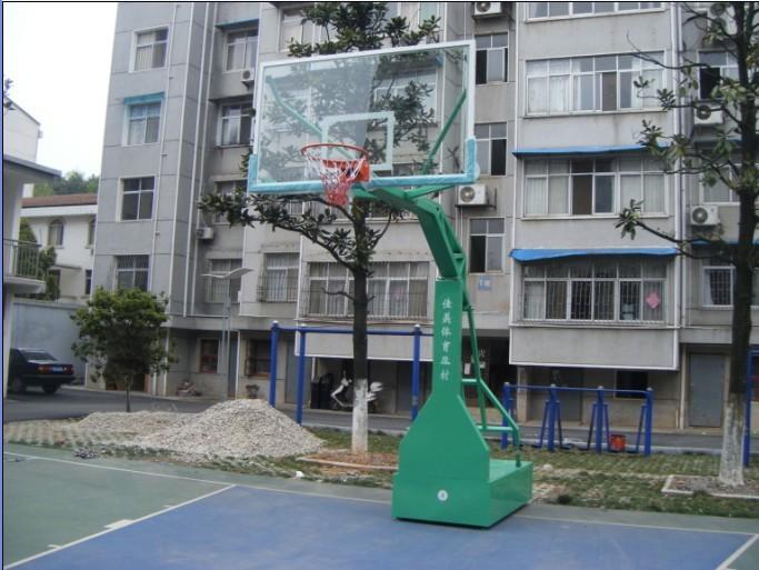 仿液压钢化玻璃篮球架