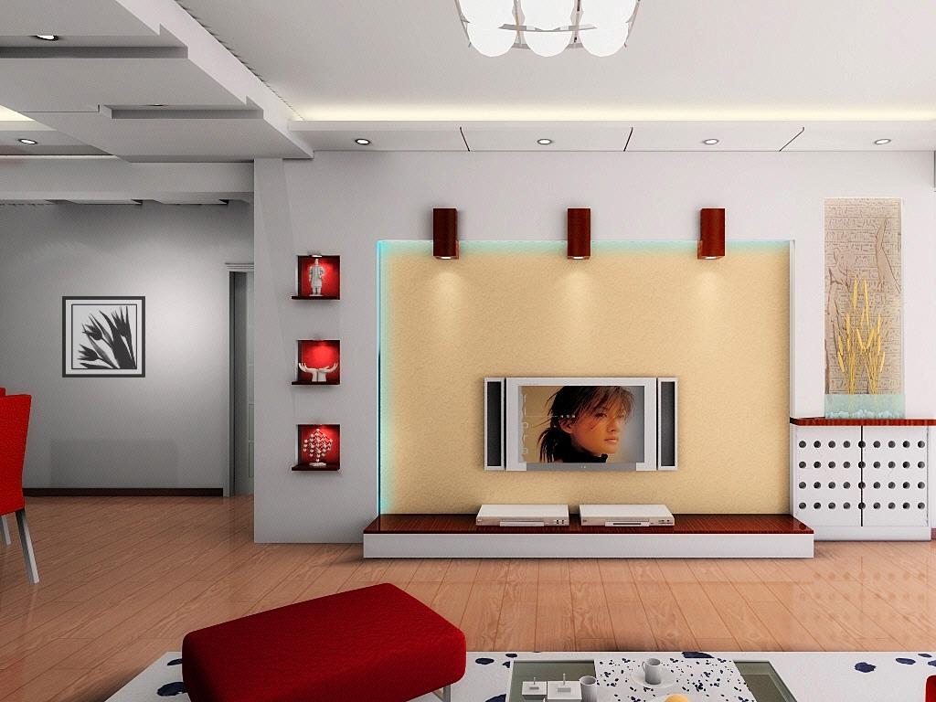 客厅电视背景墙效果图; 电视背景墙装修效果图大全-电视背景墙装修