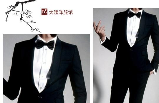 男士白色结婚礼服