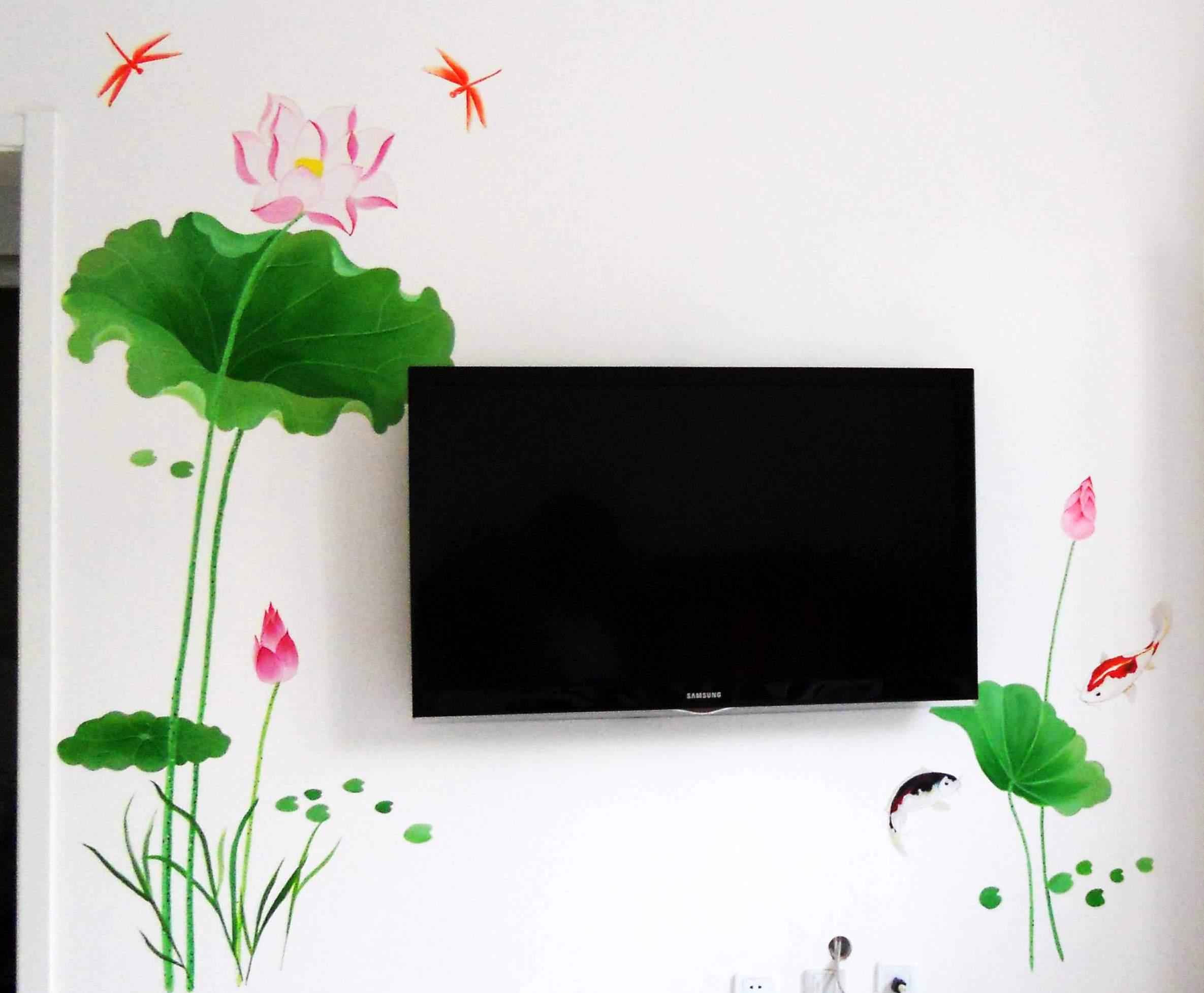 现代时尚家居手绘墙画 (电视背景墙,沙发