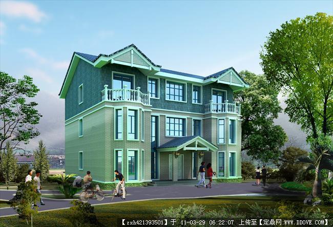 急求,农村房屋外观设计效果图以及整体农村房屋设计效果图