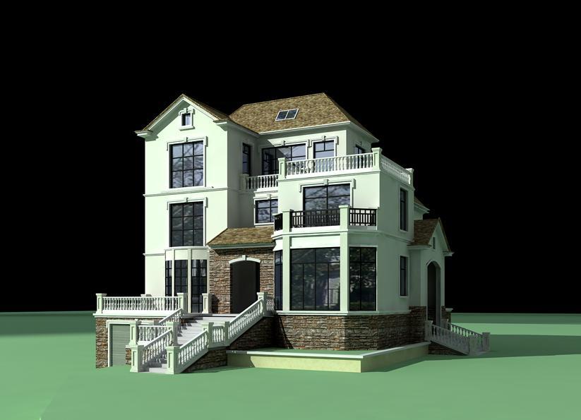 韩式别墅结构图