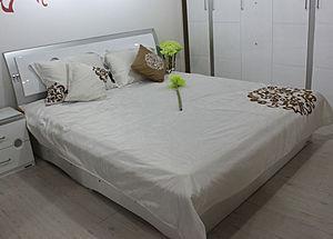 全友家私床_实木床双人床非全友家私榻榻米松木床卧室家具