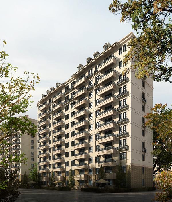 小高层住宅效果图 高清图片