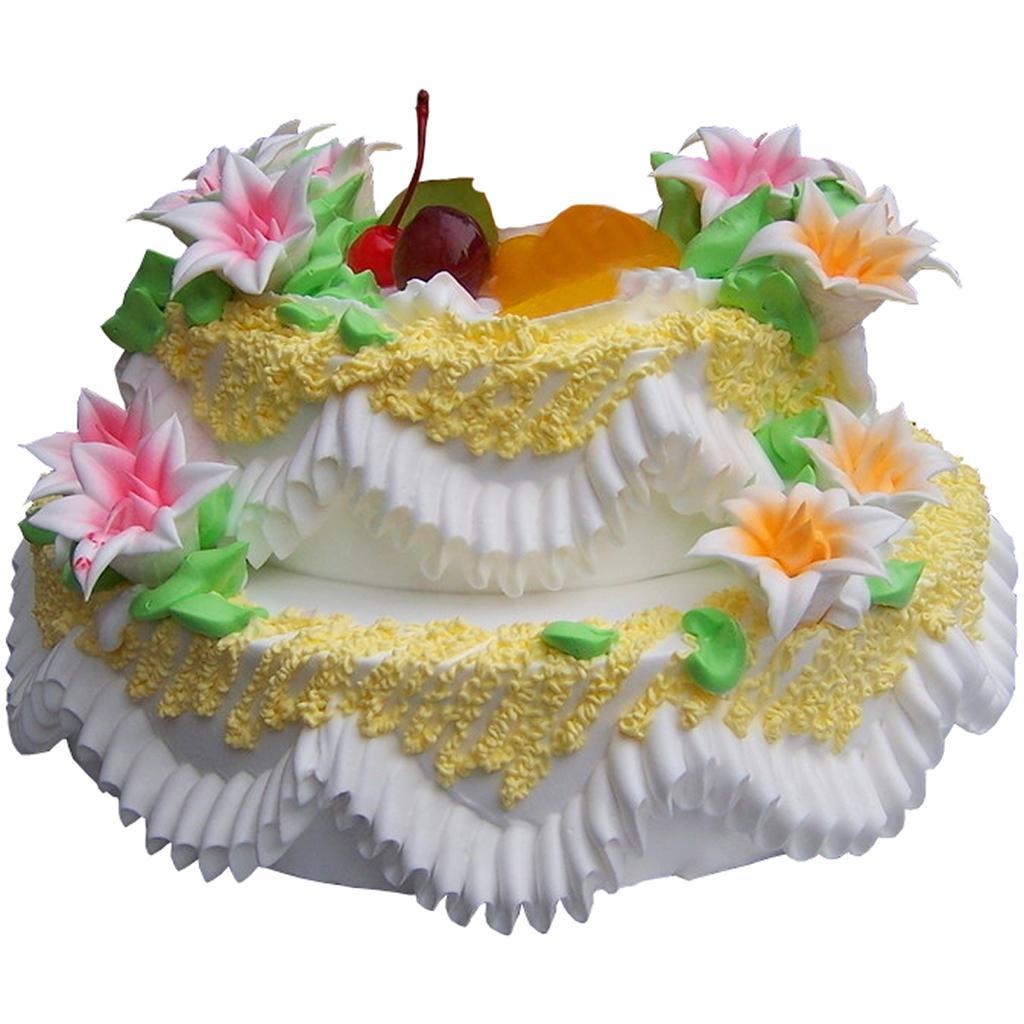 03 幸福相伴   关注度: 菜单详情:[材 料]:双层鲜奶水果蛋糕,奶油花