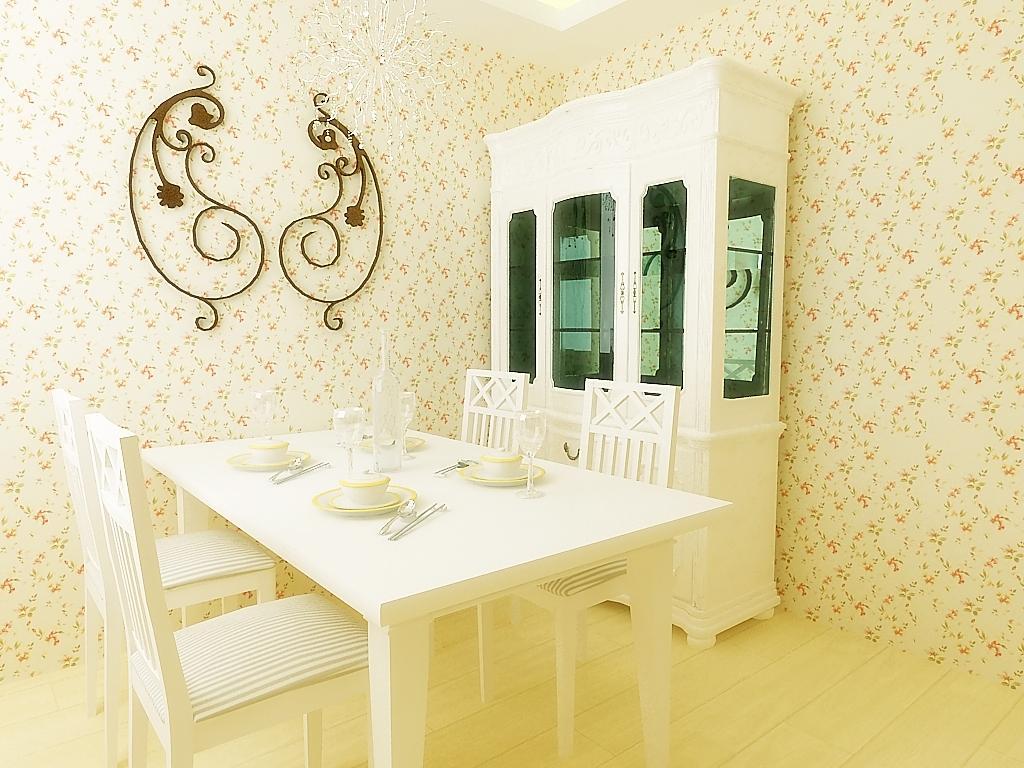 二居室 80平米 餐厅装修效果图