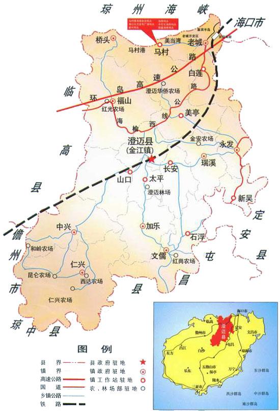 澄迈县地图规划图