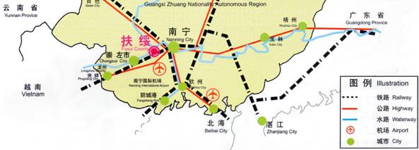 扶绥地理位置图片