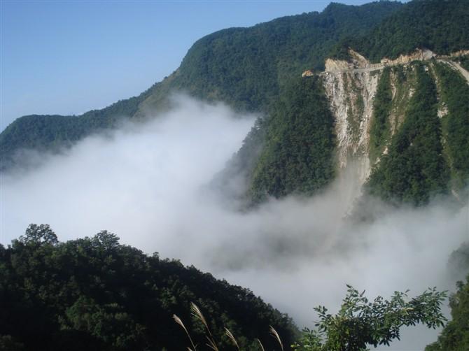 镇安塔云山景区 旅游景点 镇安之窗高清图片