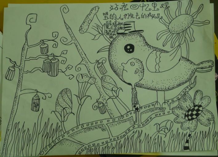 临潼儿童绘画参展作品15_节约资源保护环境从我做起—图片