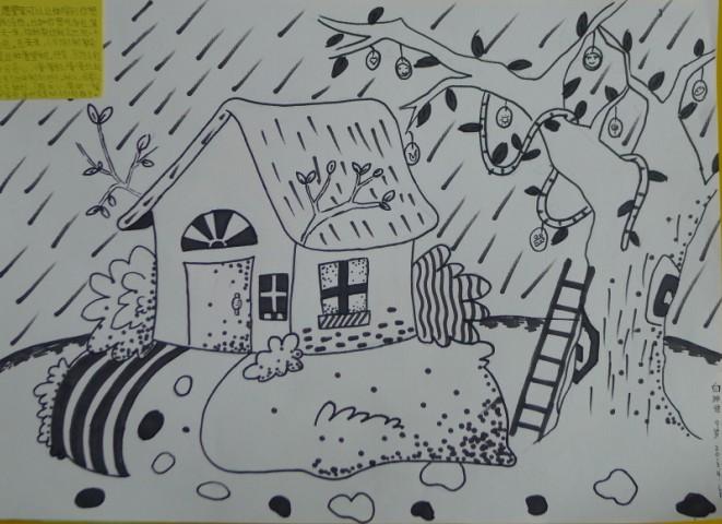"""美丽家园""""蓝郡儿童绘画赛作品"""