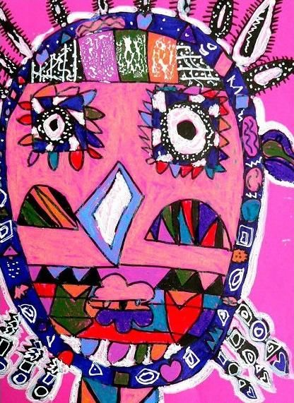 儿童抽象画-幼儿画创意画城市