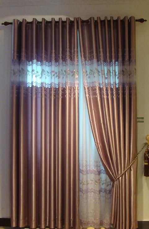 七彩虹布艺窗帘图片