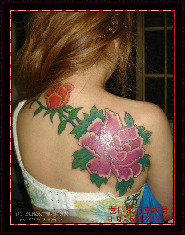 纹身图案凤凰后背图片_纹身图案凤凰后背图片下载  藏文纹身图案大全