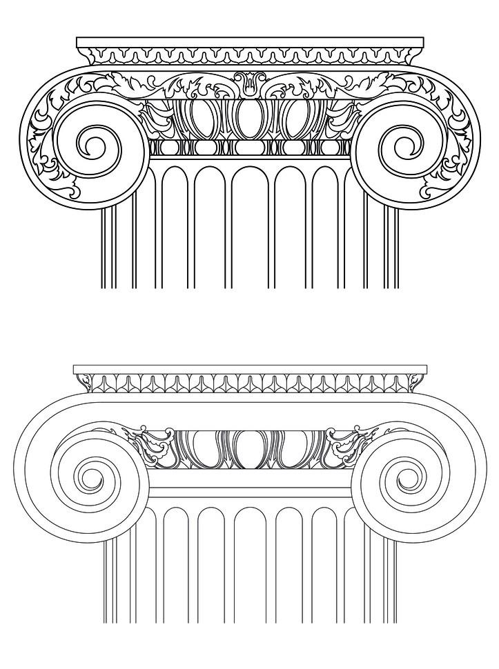 罗马柱,窗花——欧式构件厂图片